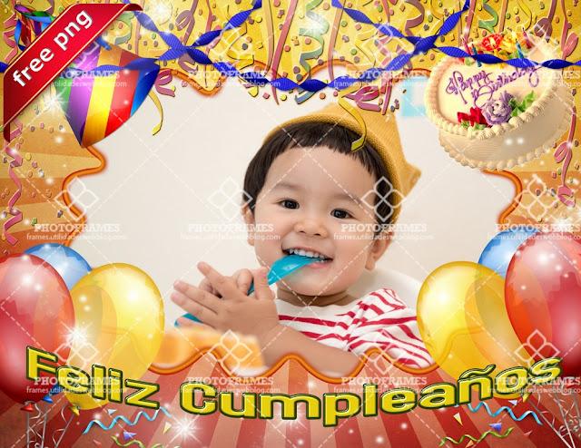 Marco para fotos de cumpleaños gratis