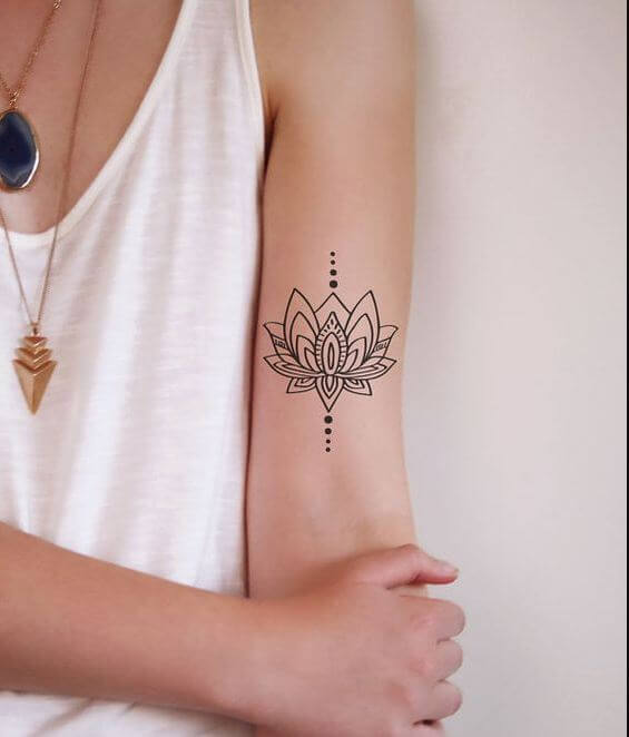 Lotus Flower Tattoo Small Finger