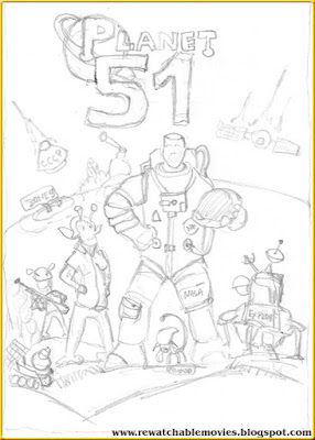 Planet 51 Thematic Sketch Poster