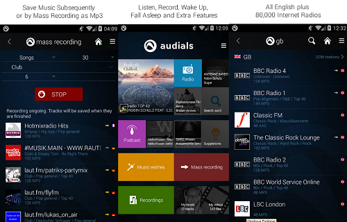 أكثر من 80 ألف محطة إذاعية للراديو مع تطبيق Audials Radio Player Recorder