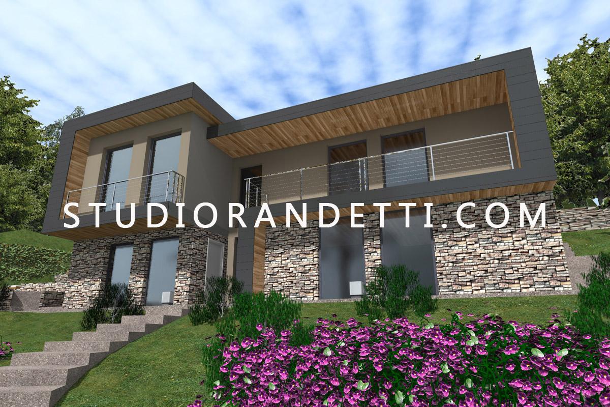 Studio randetti progettazione design ville moderne for Ville moderne design