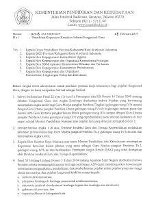 Download Aturan Edaran Tentang Kenaikan Jabatan Fungsional Guru Terbaru Tahun 2019 pdf