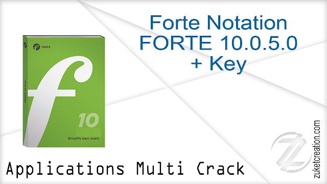 Forte Notation FORTE 10.0.5.0 + Key