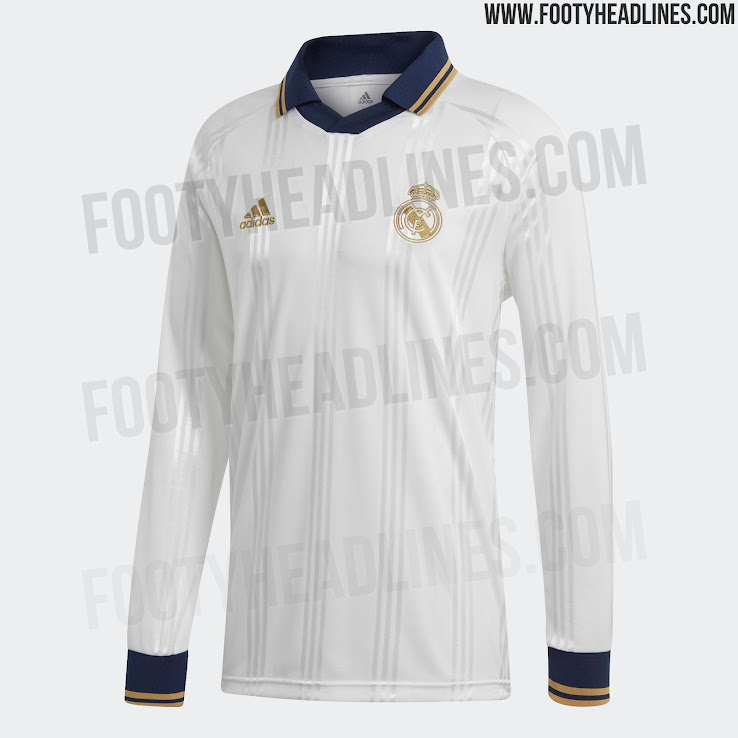 a2b40ab56be Adidas Real Madrid 19-20 Icon Retro Long-Sleeve Jersey Leaked ...