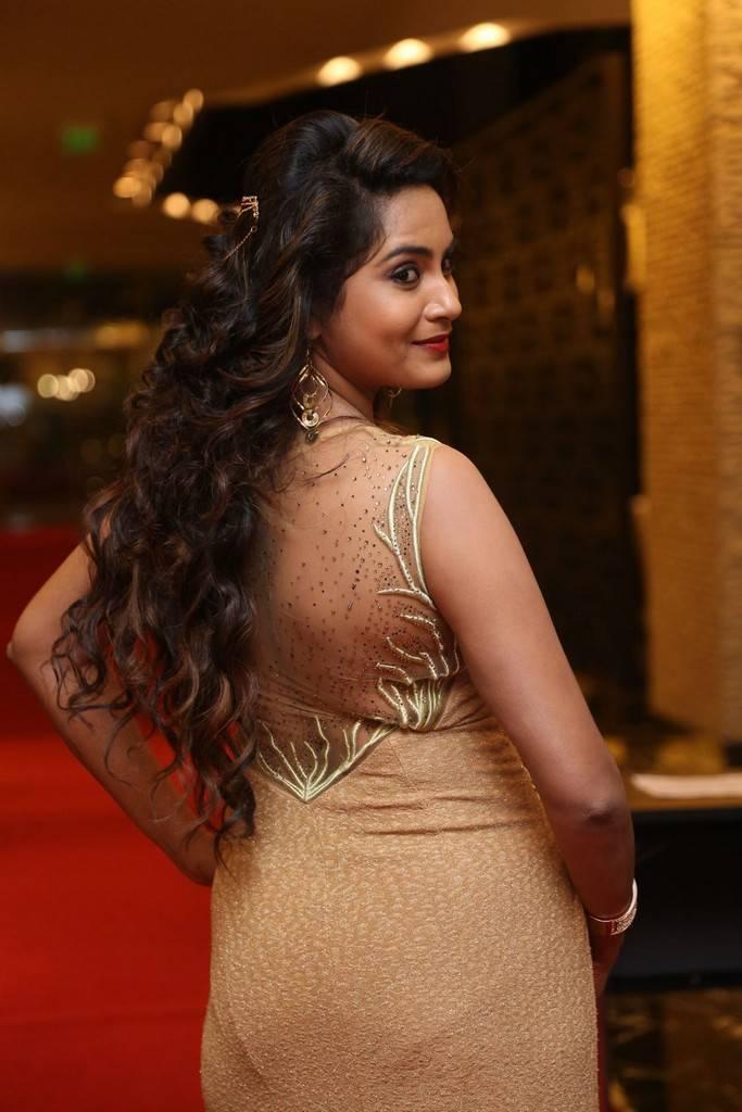 Indian Girl Himaja Stills At SIIMA Short Film Awards 2017