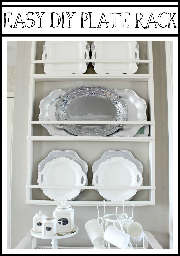 Build Your Own DIY Plate Rack - Easy Plans - Hymns and Verses