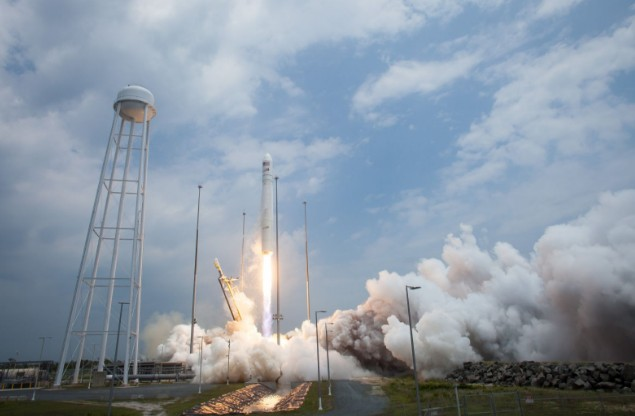 Antares Rocket Launch NASA Cargo Spacecraft Filled for ISS