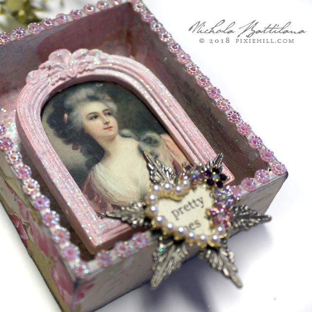 Pretty Pink Lady Shadowbox