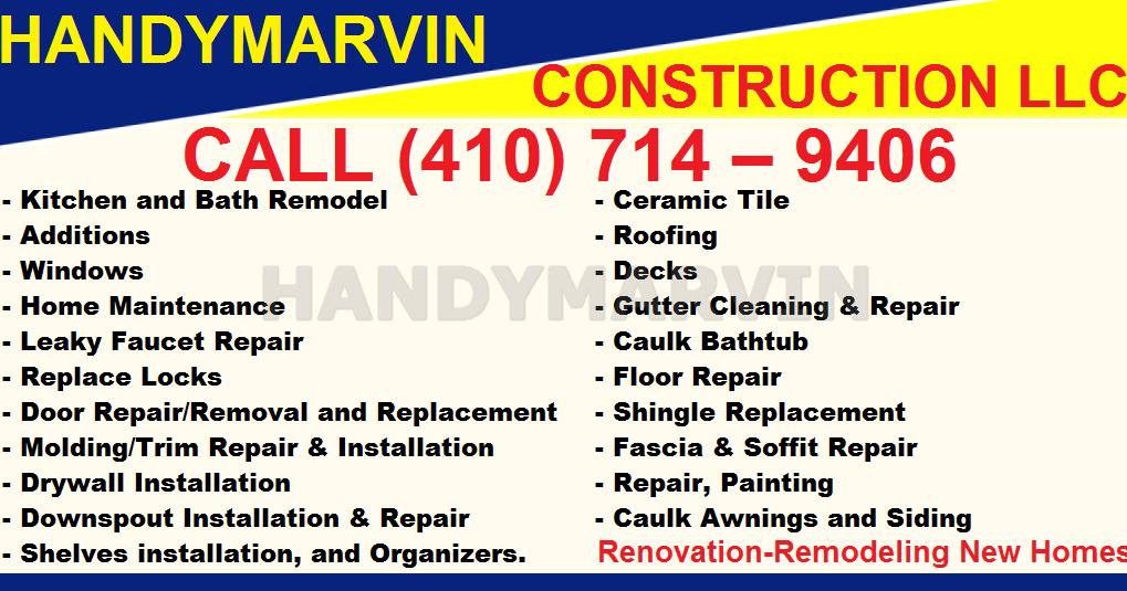 Handyman Handyman Dorchester Baltimore 410 714 9406