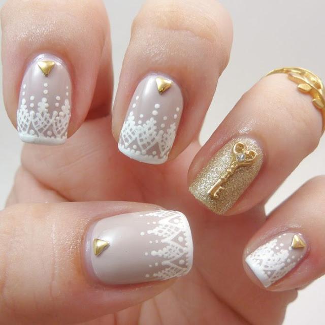 uñas de novias decoradas