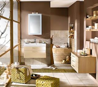Cuarto de baño marrón