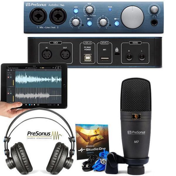 PreSonus AudioBox iTwo Studio Audio Interface Bundle