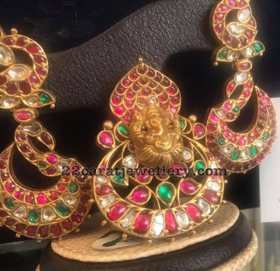 Ethnic Kundan Ganesh Pendants
