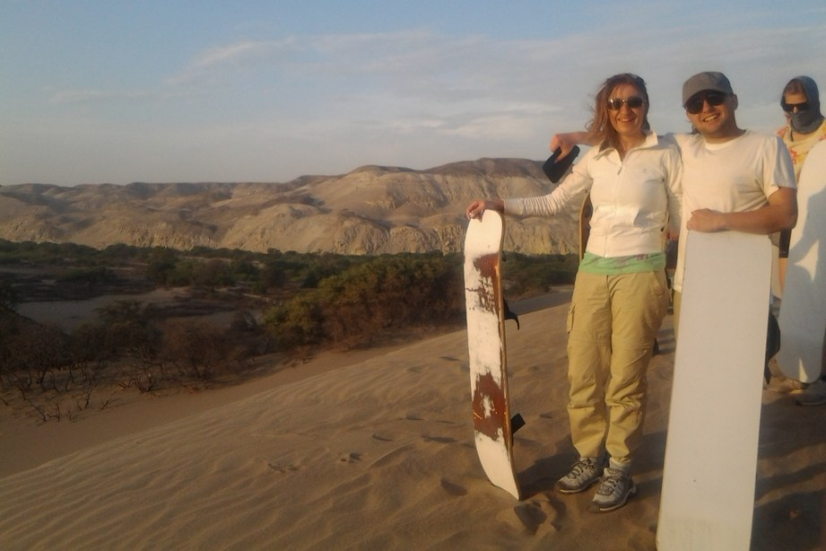 Sandboarding, Nazca Peru