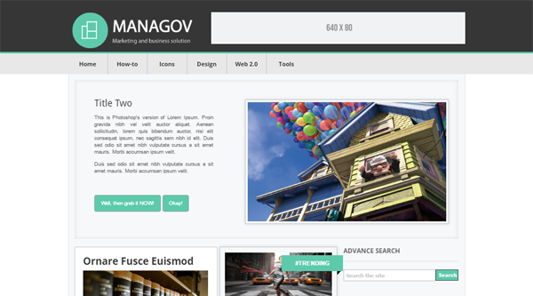 Managov Blogger Template