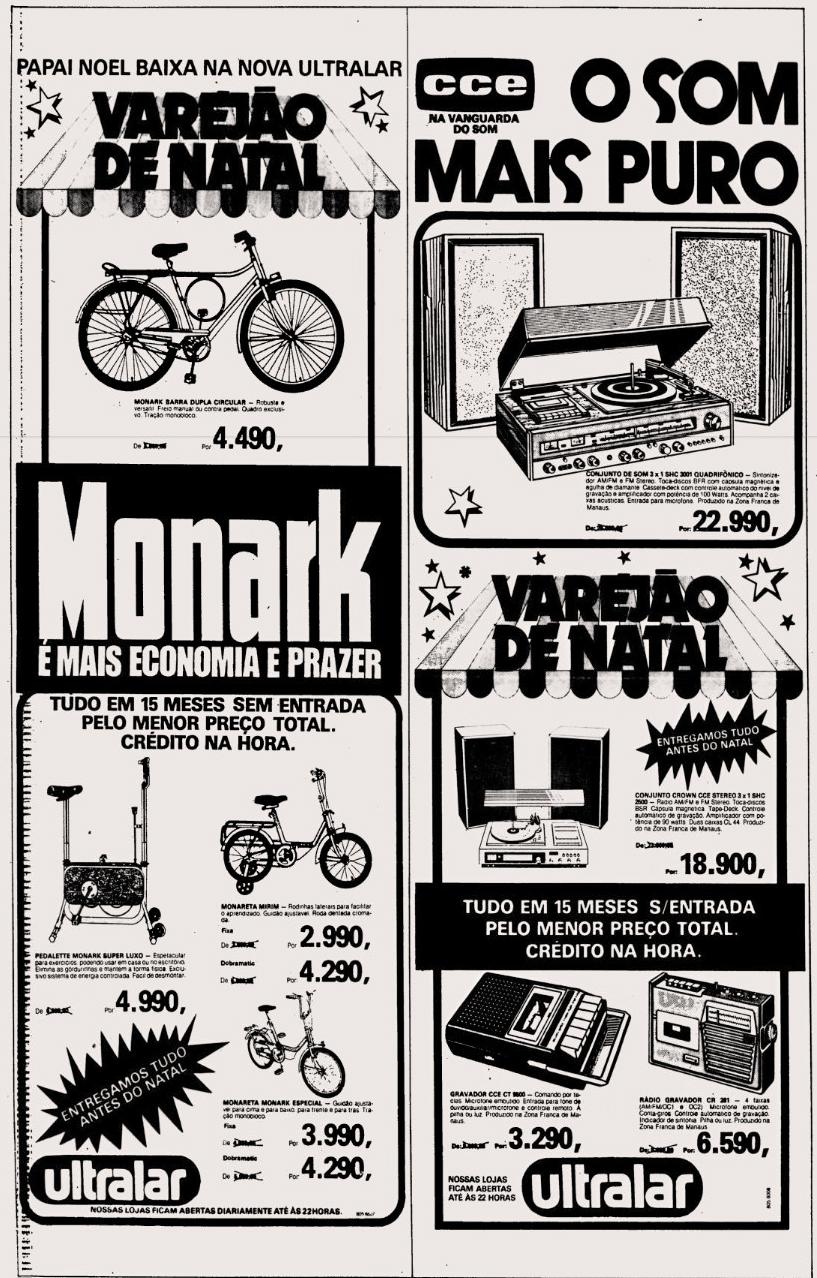 Campanha da Ultralar com ofertas para o Natal de 1979