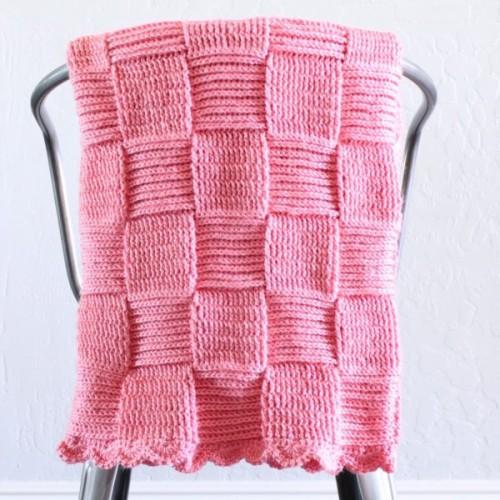 Crochet Basketweave Blanket - Free Pattern