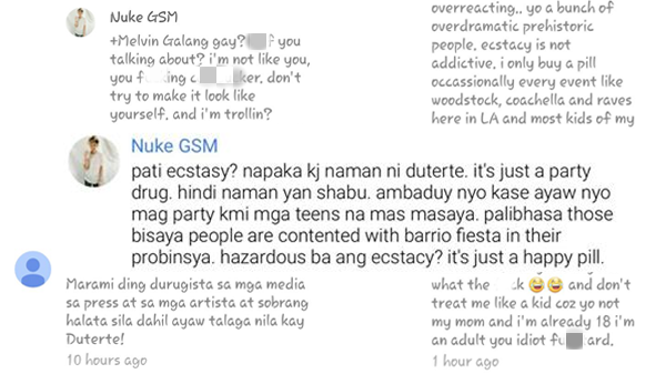 Teen comments 'KJ' on banning ecstasy, outrage netizens
