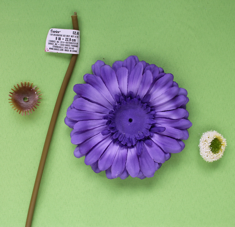 How to disassemble a silk flower