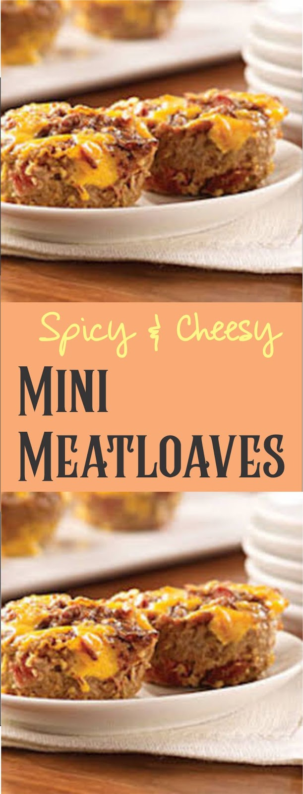 Spicy Cheesy Mini Meatloaves