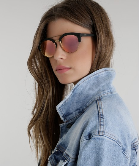 óculos gatinho feminino pat pat's preto - único
