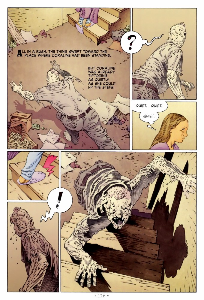 Read page 126, from Nail Gaiman and P. Craig Russell's Coraline graphic novel