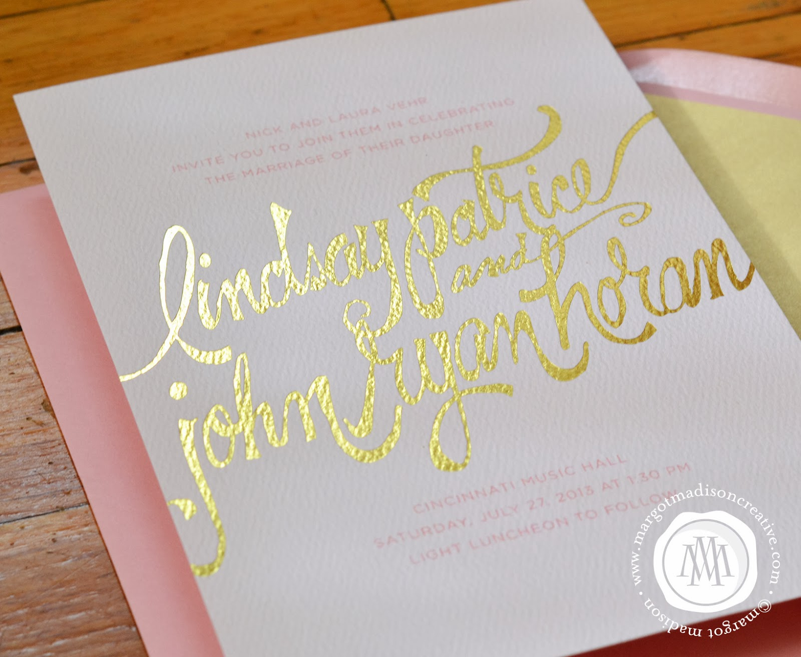 Calligraphy Wedding Invitations: MargotMadison: Wedding Invitation Trends: Handwritten