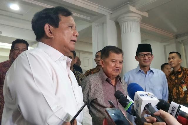 Bela Prabowo, JK Tidak Sepenuh Hati Dukung Jokowi