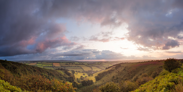 Wonderful Exmoor countryside at the Punchbowl from Winsford Hill