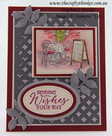 Oh So Eclectic, Watercolouring, Mediterranean Moments, Embossing Paste, Masculine card, #thecraftythinker, Stampin' Up Australia Demonstrator, Stephanie Fischer, Sydney NSW