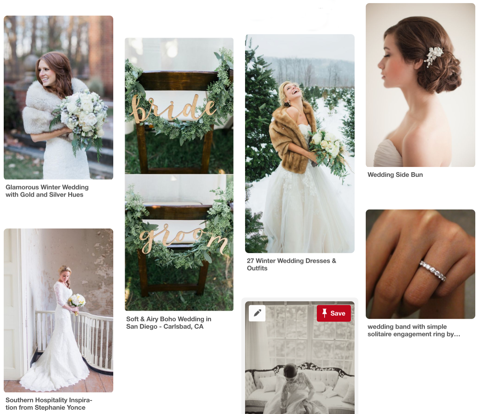 wedding inspiration - wedding pinterest board - winter wedding inspiration