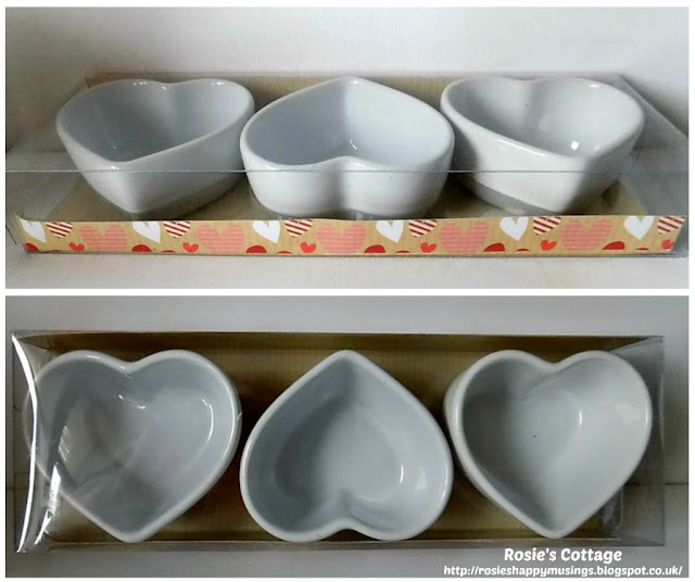 Heart Shaped Ceramic Dip Dishes From Poundland