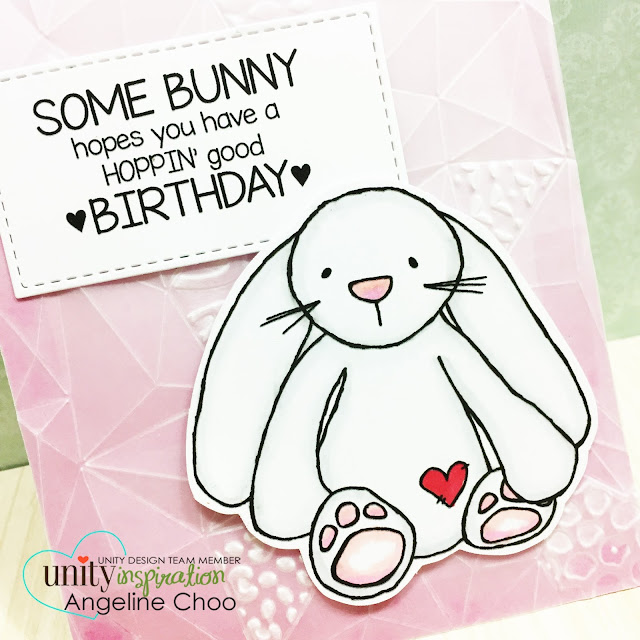 ScrappyScrappy: [NEW VIDEO] DT Bunny Blog Hop with Unity Stamp #scrappyscrappy #unitystampco #sizzix #vellum #bunny #birthdaycard #papercraft #card #cardmaking #copic #texturedimpressions #quicktipvideo #youtube #video