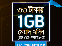 GP 1GB internet data (Night Pack) at only tk. 33 offer