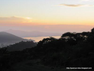 Laguna de Cajititlán desde Cerro Viejo - Amanecer