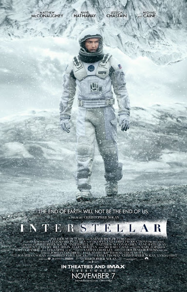 Poster Of Interstellar 2014 720p BRRip Full Movie Download (IMAX Cropped)