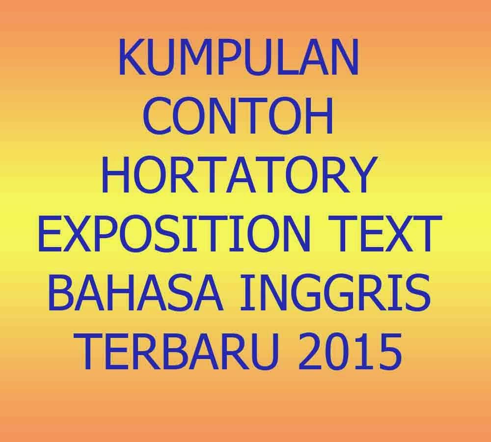 Kumpulan Contoh Hortatory Exposition Bahasa Inggris Terbaru 2015