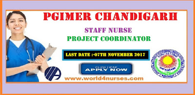 PGIMER Staff Nurse Recruitment 2017 in Chandigarh
