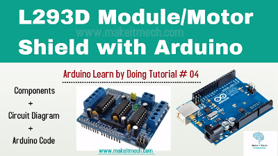 how to use motor driver with arduino motor shield with arduino