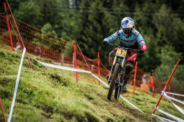 2016 Leogang UCI World Cup Downhill: Practice - Rachel Atherton