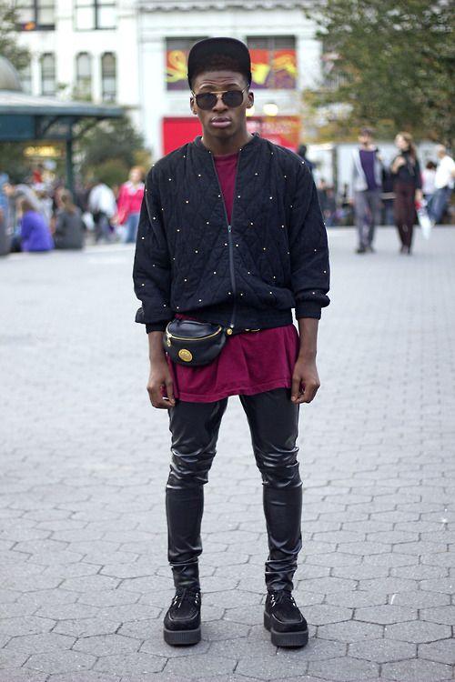 look masculino pochete