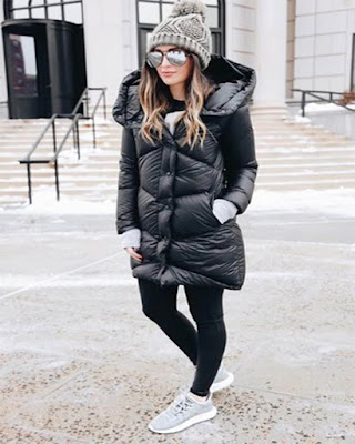 outfit de invierno con leggins casuales juveniles de moda tumblr