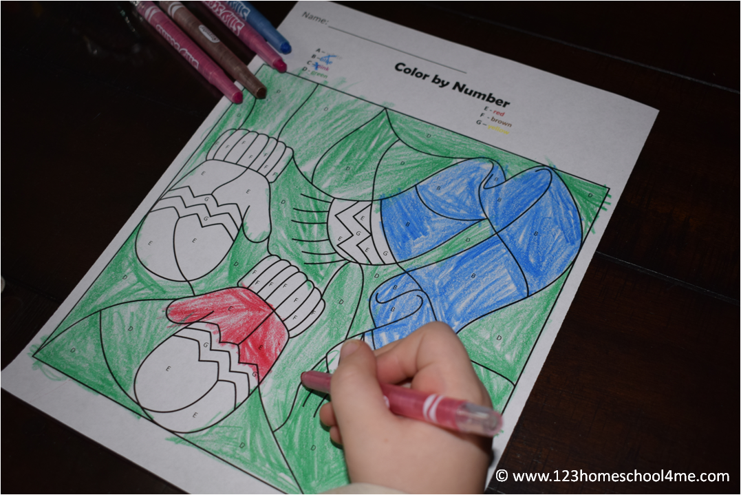 FREE WINTER COLOR BY LETTER WORKSHEETS (Instant Download) | Free ...