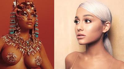 Fan-base de Ariana e Nicki entrar em atrito devido a data de lançamento, e Ariana Grande responde.