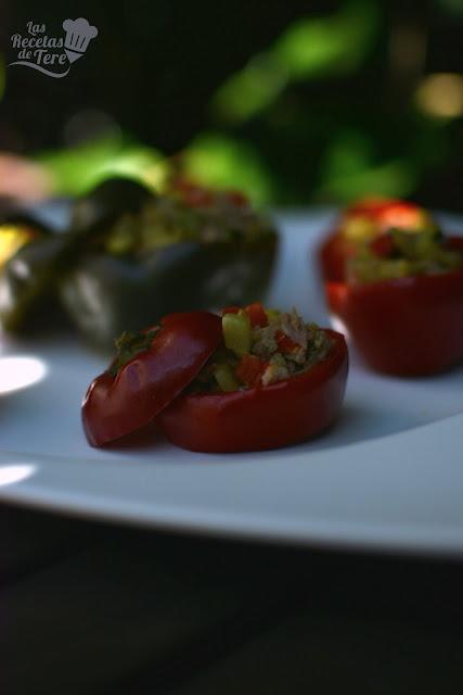 Pimientos cherry rellenos con guiso de vegetales y atún tererecetas 03