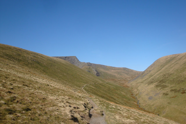 first glimpse of sharp edge, blencathra, lake district