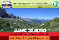 Himachal Pradesh Forest Department Recruitment 2017– 174 Forest Guards