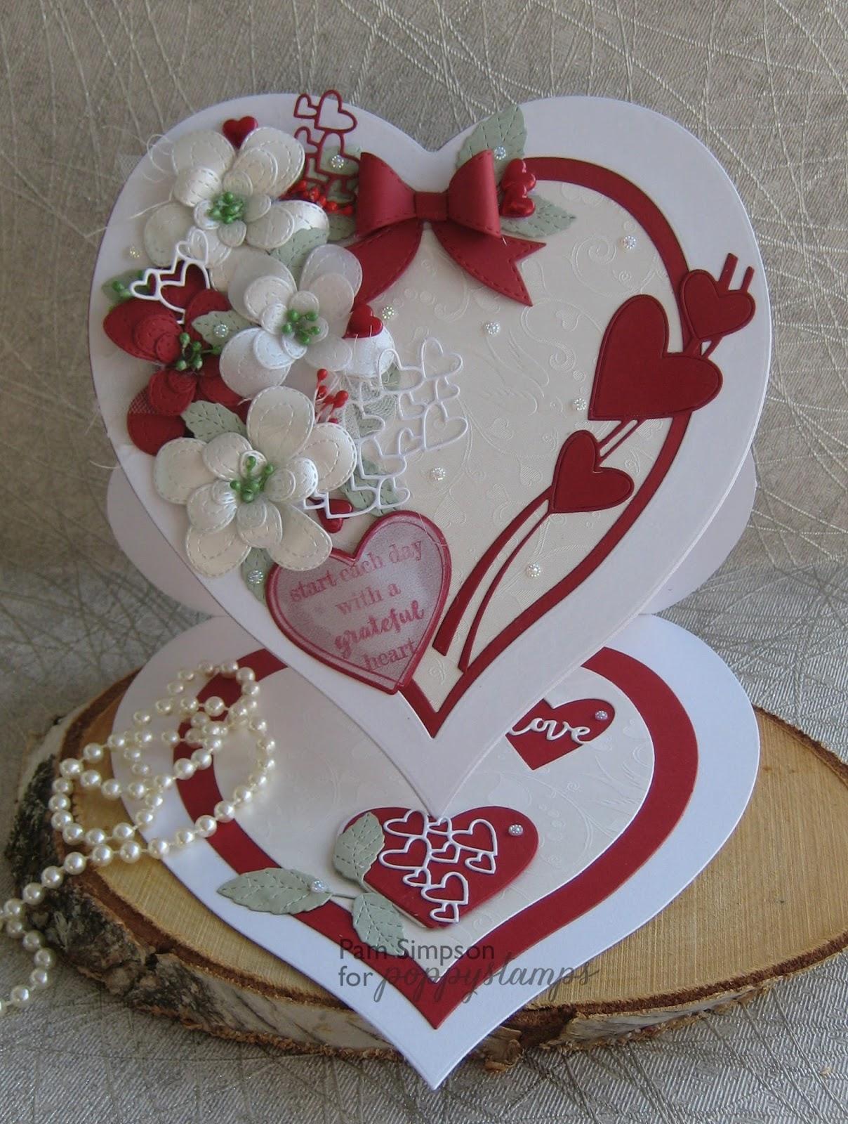 pamscrafts hearts a flutter