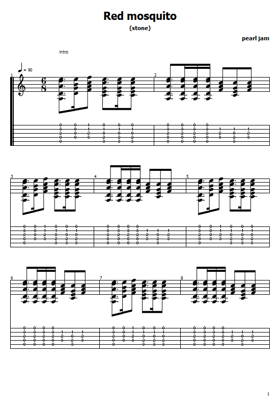 Red Mosquito Tabs Pearl Jam - How To Play Red Mosquito Pearl Jam On Guitar Tabs & Sheet Online