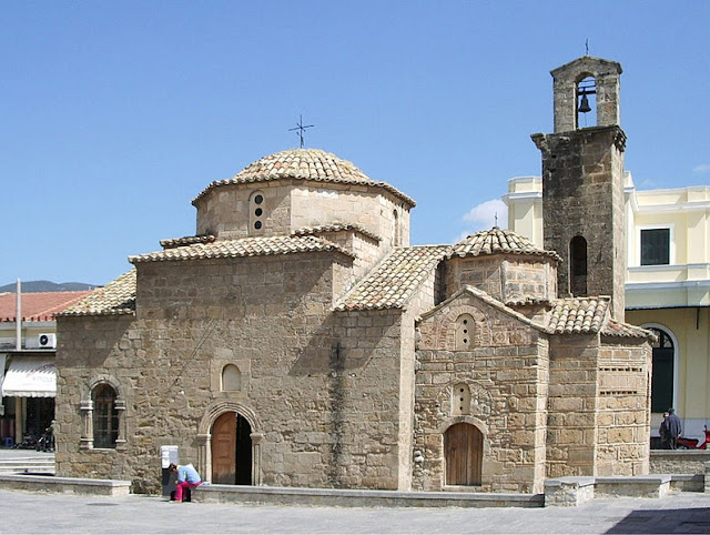 The Church of the Holy Apostles,  is where Mavromichalis declared the revolt against Ottoman rule in 1821.